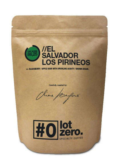 LotZero Specialty El Salvador Los Pirineos Black Honey 250 g bag