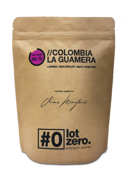 LotZero Specialty Colombia La Guamera Busta 250 g bag