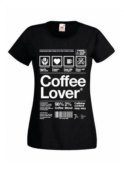 T-Shirt Coffee Lover | Woman | Sz. S