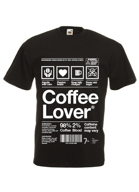 Maglietta Coffee Lover | Mod. Uomo | Tg. L