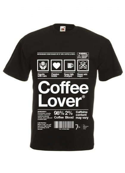 T-Shirt Coffee Lover | Man | Sz. S