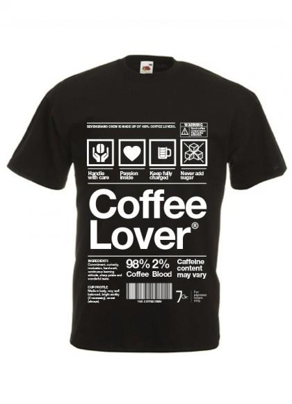 Maglietta Coffee Lover | Mod. Uomo | Tg. S