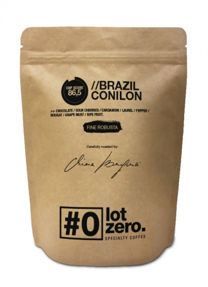 Lot Zero Fine Robusta Brazil Conilon Whole Beans Bag250gr