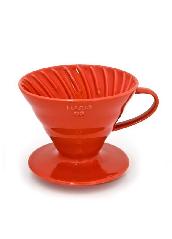 Hario Dripper V60 in Ceramica Rossa Size 02
