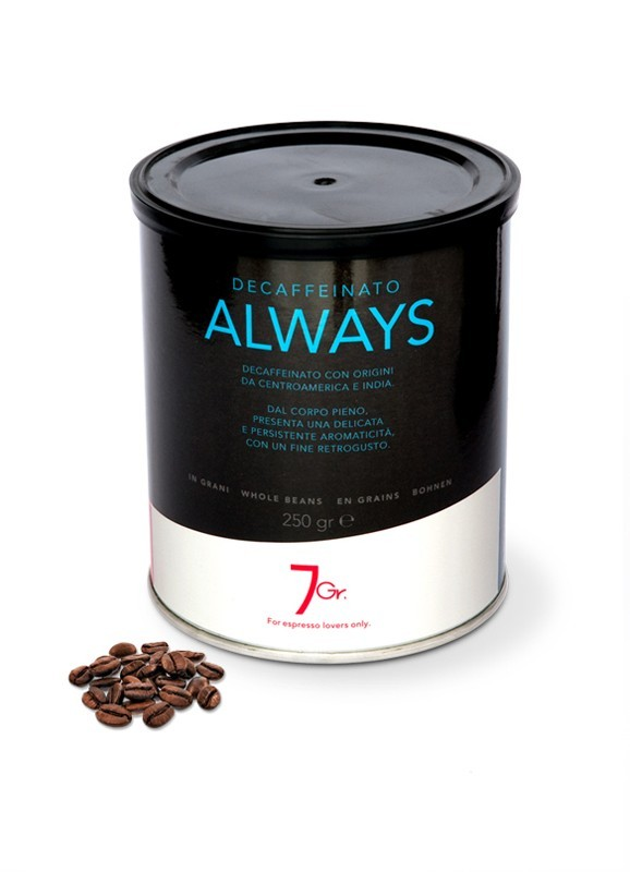 ALWAYS TIN 250 G. WHOLE BEANS
